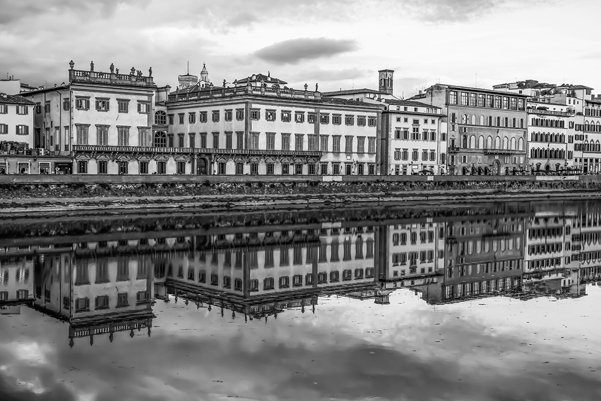 River Arno Reflection