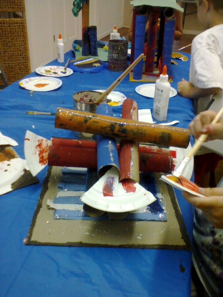 Tube Sculptures - Art Camp 2011