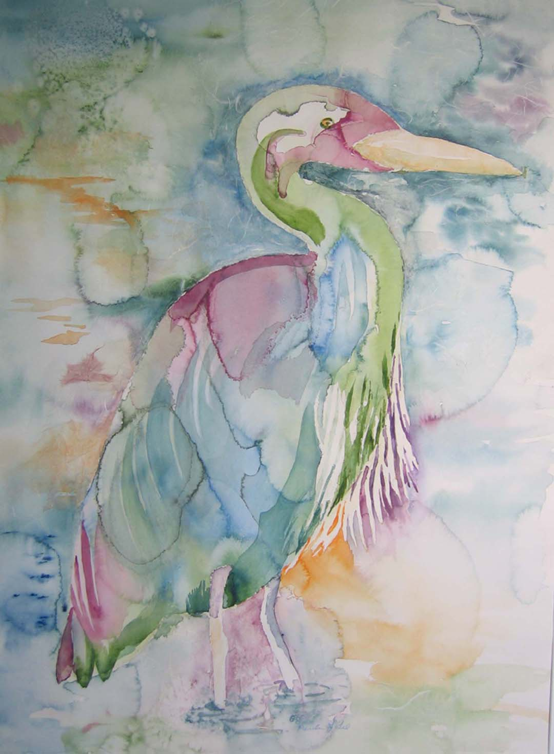 watercolor with rice paper