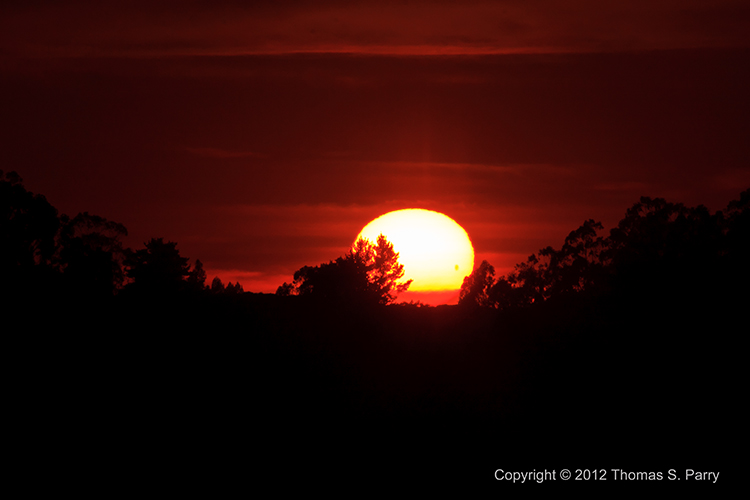 Transit of Venus-Sunset-2