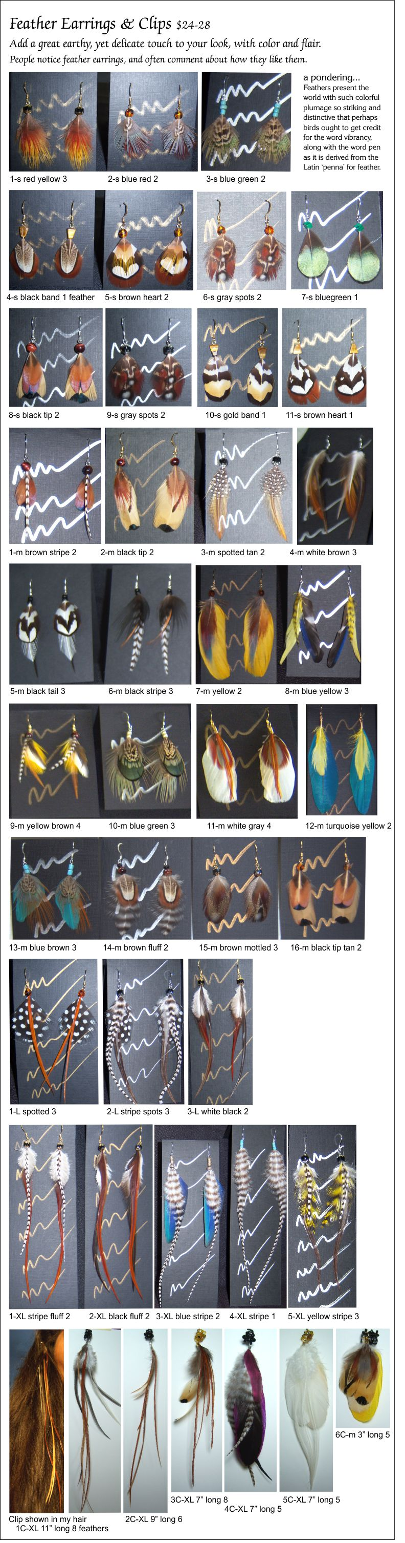feather earring & clip images