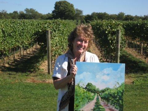 Photo of Patricia Feiler at Sparkling Pointe Vineyard