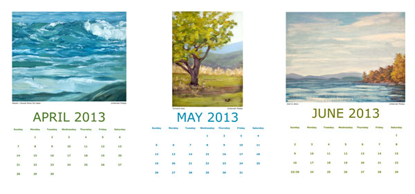 Hannah Phelps' 2013 Calendar, April-June