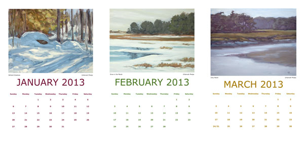 Hannah Phelps' 2013 Calendar, January-March