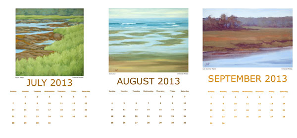 Hannah Phelps' 2013 Calendar, July-September