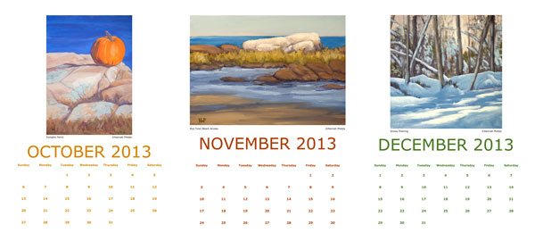 Hannah Phelps' 2013 Calendar, October-December