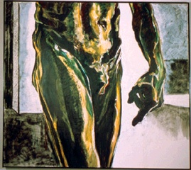 Oil on linen, male nude, after Rodin