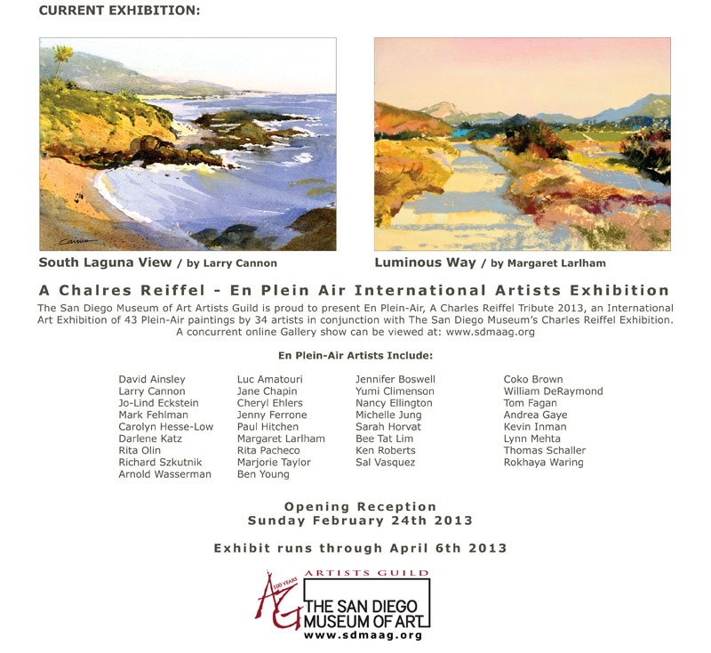 SDMAAG En Plein Air Exhibition artists at L Street Fine Art