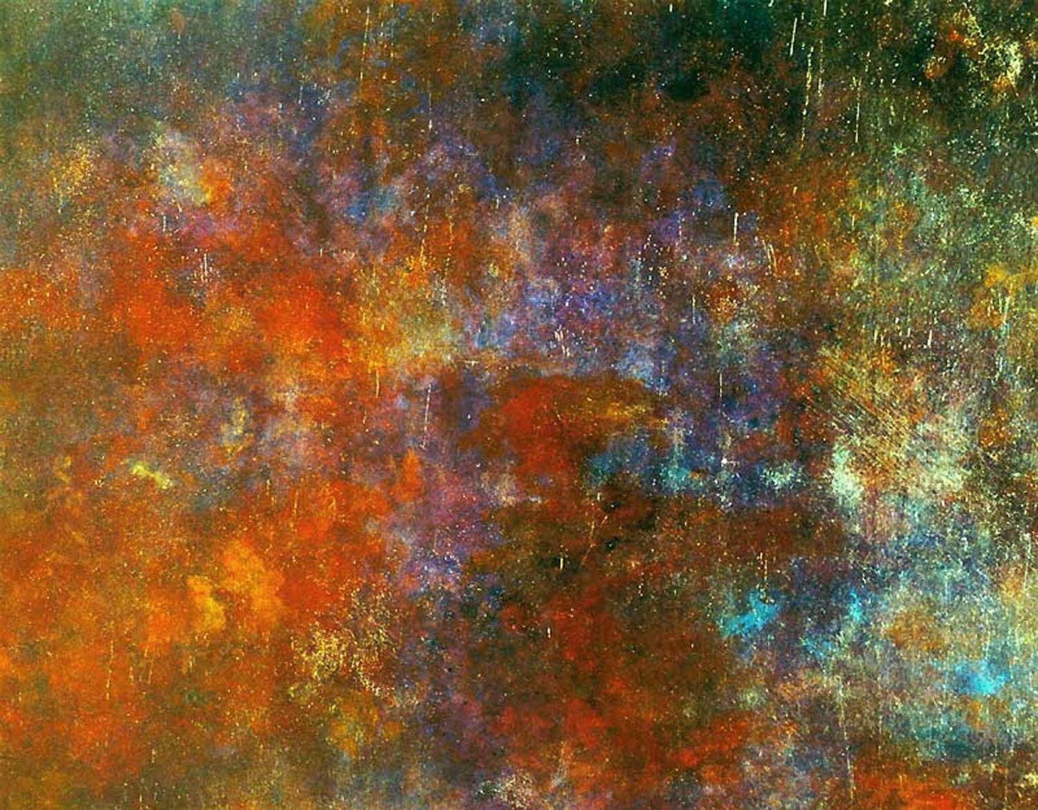 star eyes – 154 x 192 cm – oil, acrylic and plaster on canvas – 2001