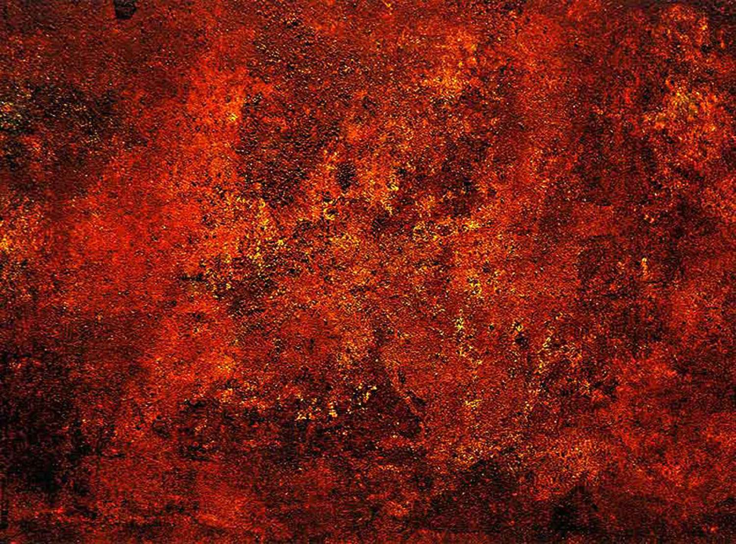 miles´ mode - 157 x 208 cm - acrylic, plaster and sand on canvas - 2004