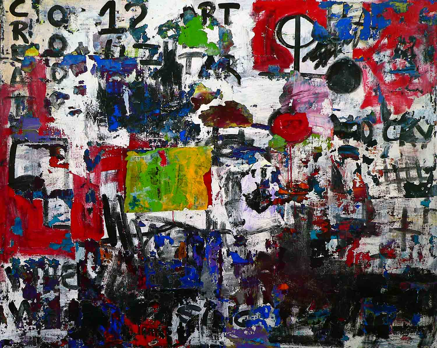 tar - 150 x 210 cm - acrylic and collage on canvas - 2011