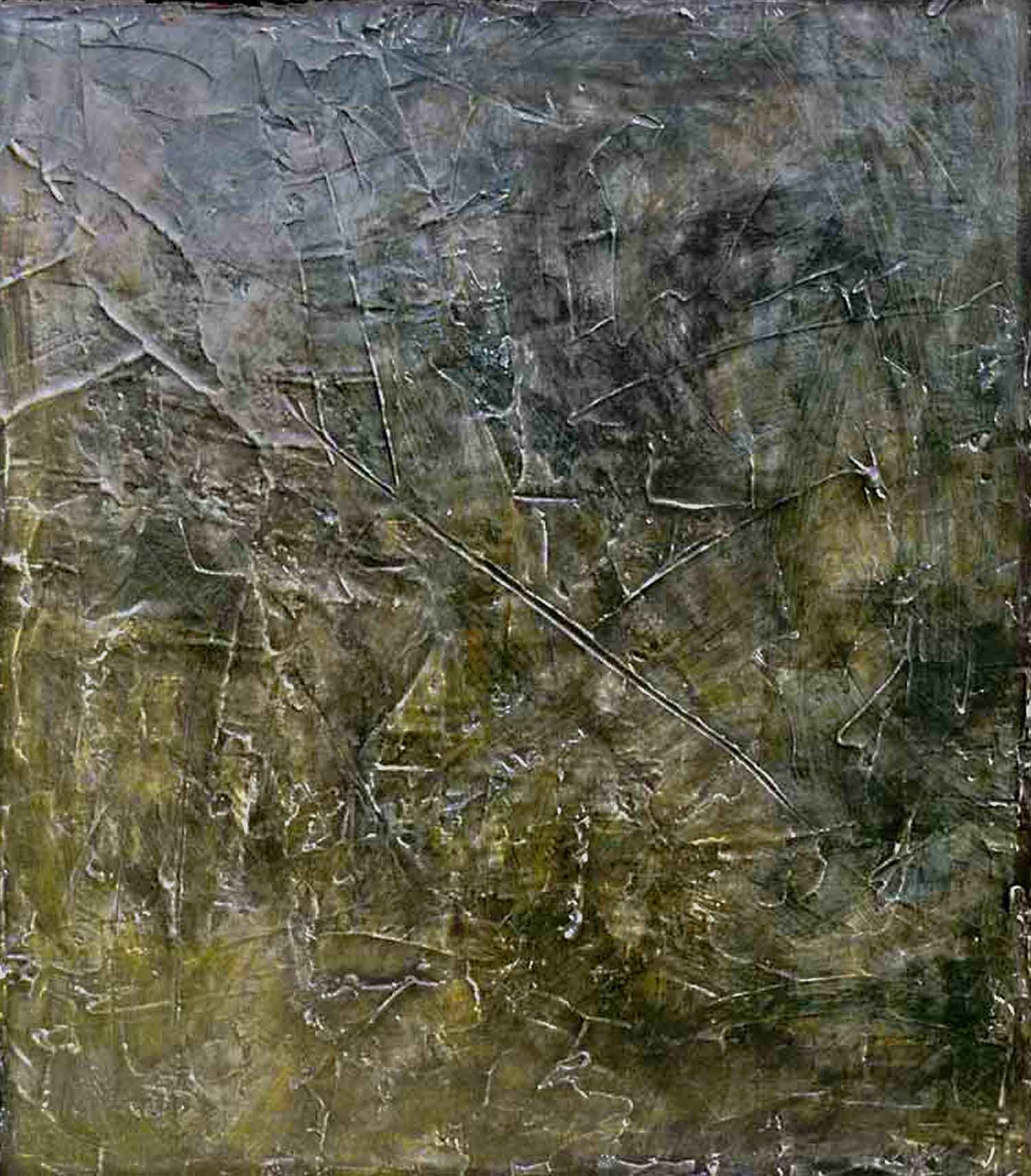 that old black magic – 150 x 130 cm – oil and plaster on canvas – 2001