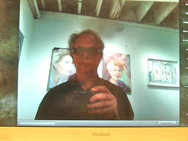 self portrait ichat screen