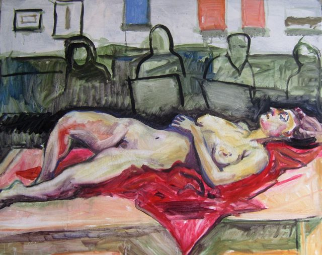 heliconian reclining nude