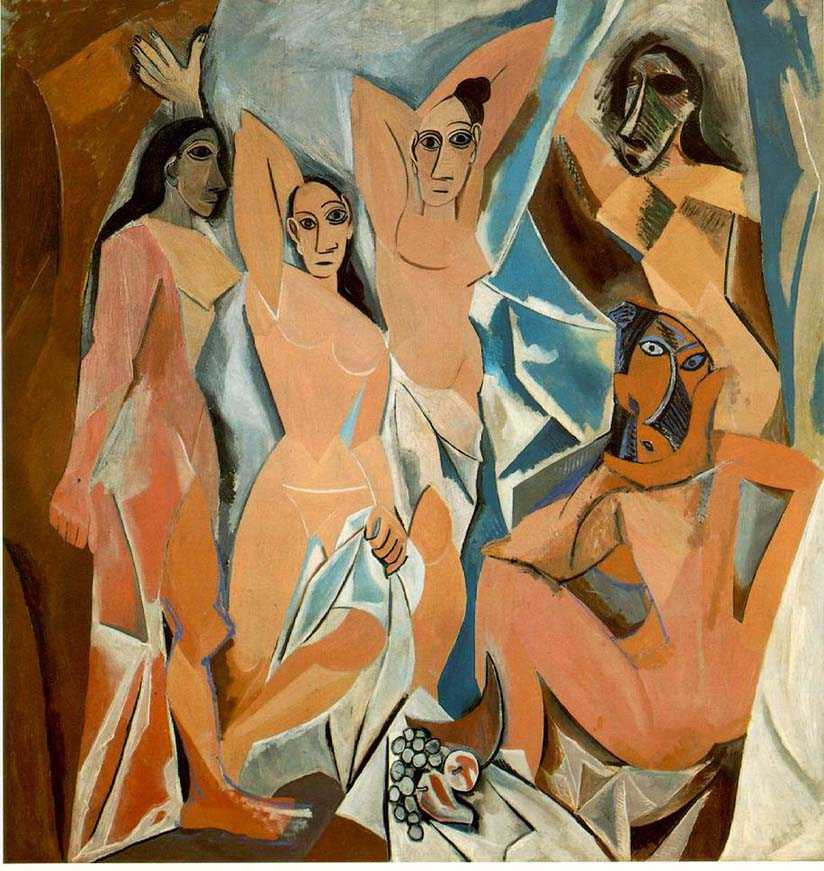 demiselles d'avignon,women,picasso,prostitutes,cubism