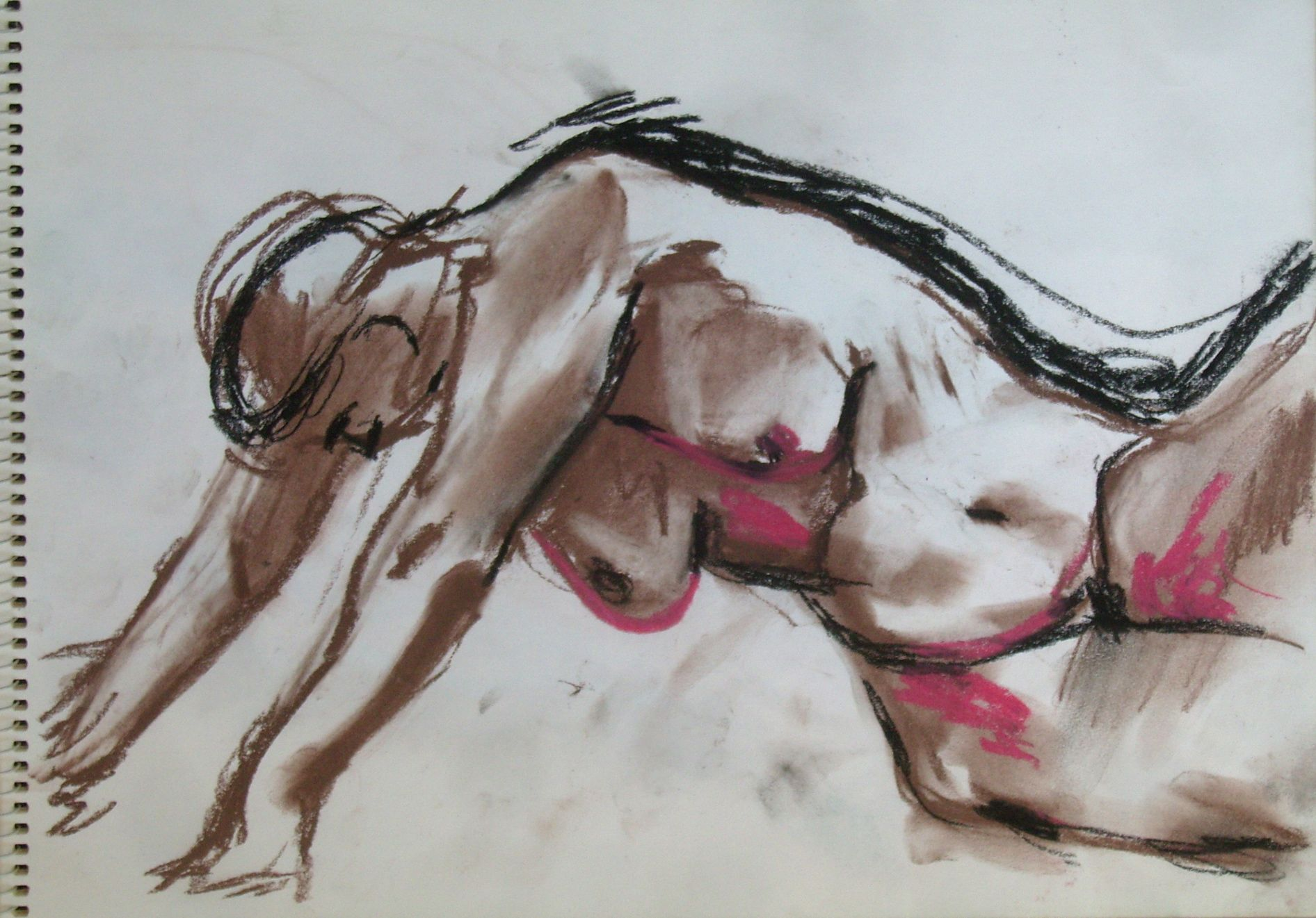 pastel nude drawing