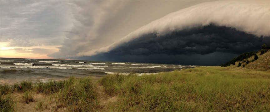 August Storm - Lake Michigan