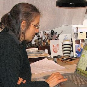 Susan in the Studio