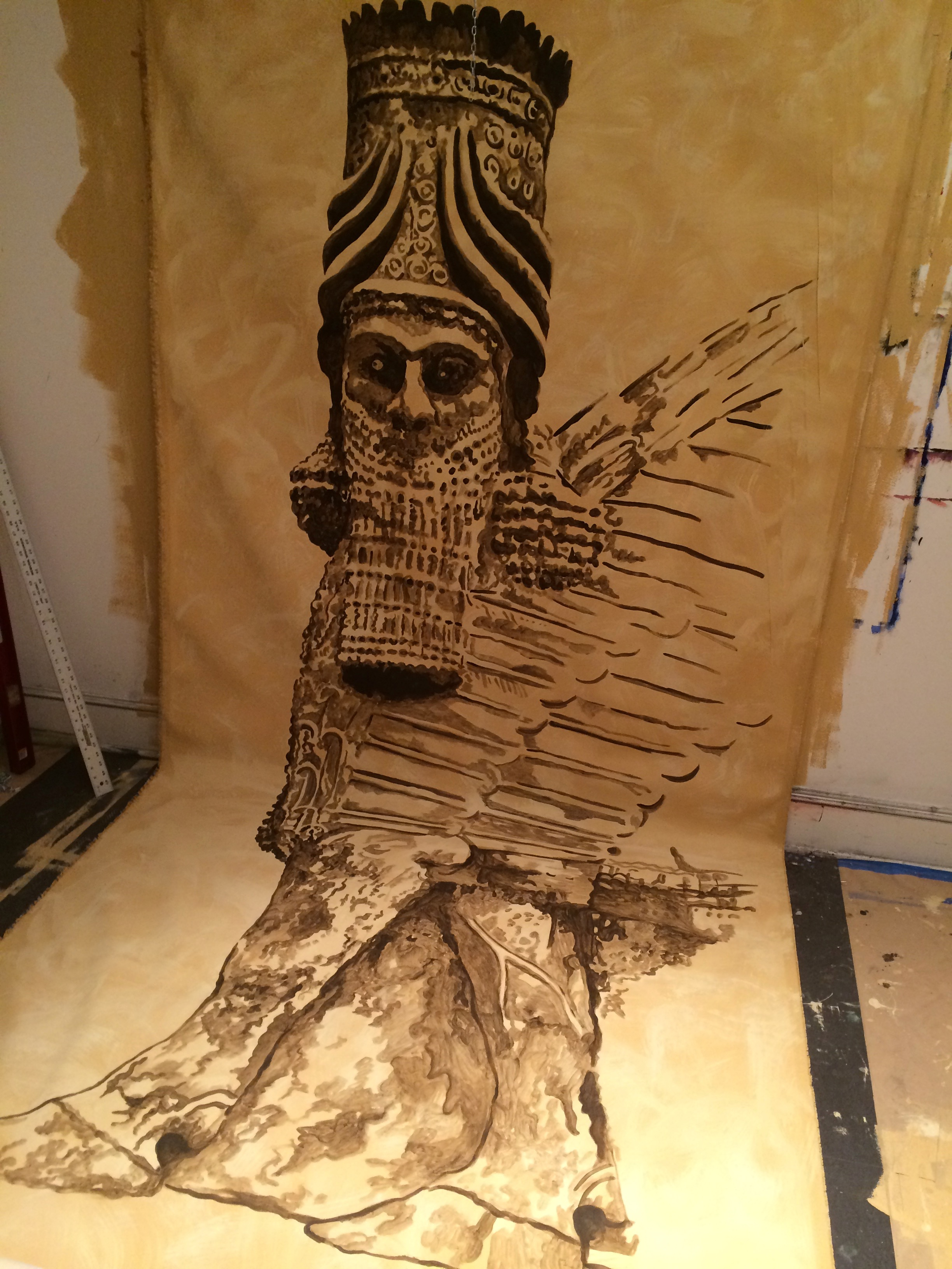 set painting for Verdi's Nabucco