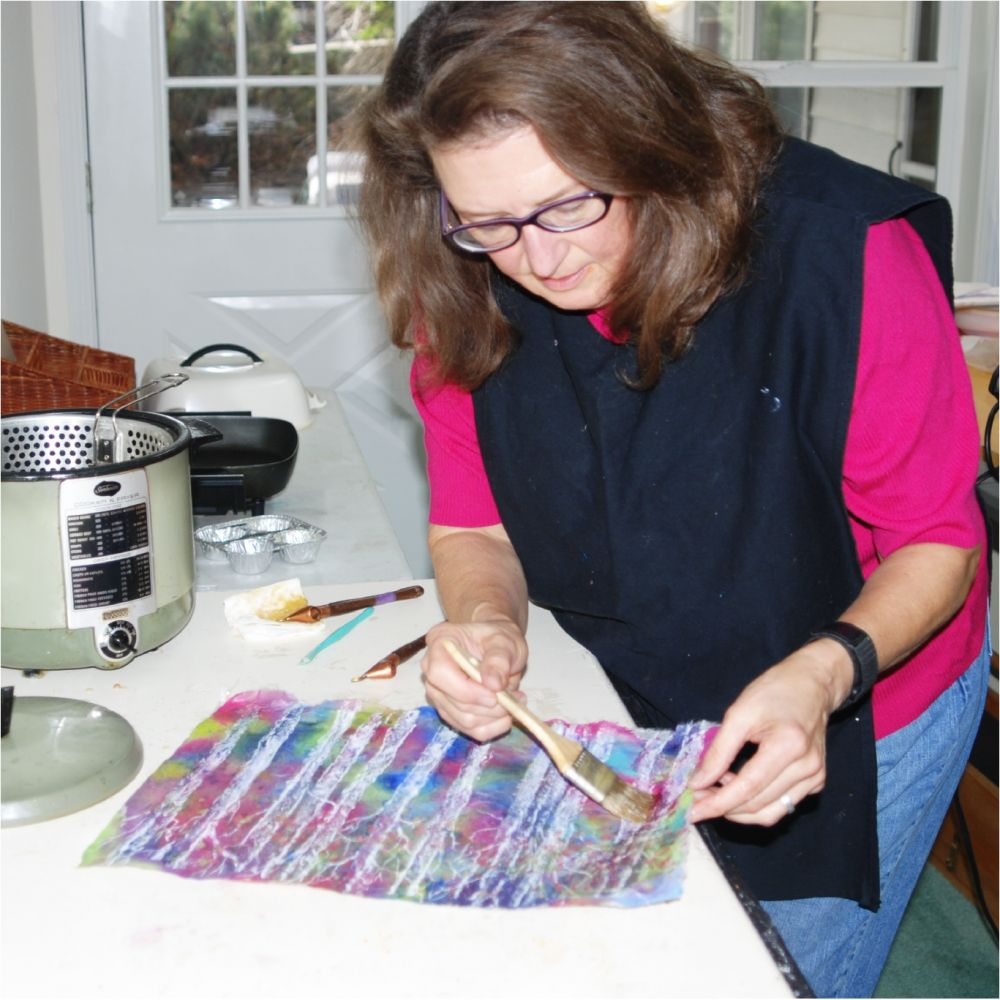 Denise at work