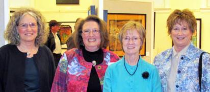 Batik Convergence artists: (L-R) Sue Orlaske, Denise Elizabeth Stone, Linda Peterson, Jan Clark