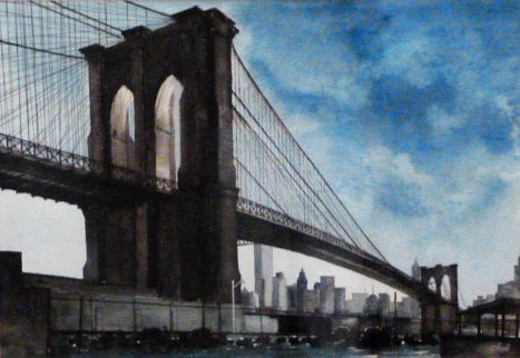 Brooklyn Bridge Water color