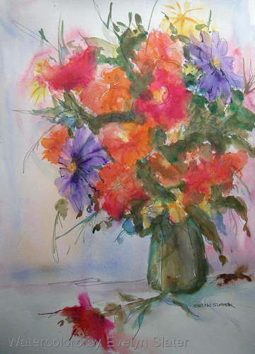 Watercolors by Evelyn Susie Slater