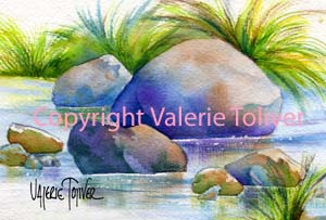 Exercise: Drawing and Painting Rocks by Valerie Toliver