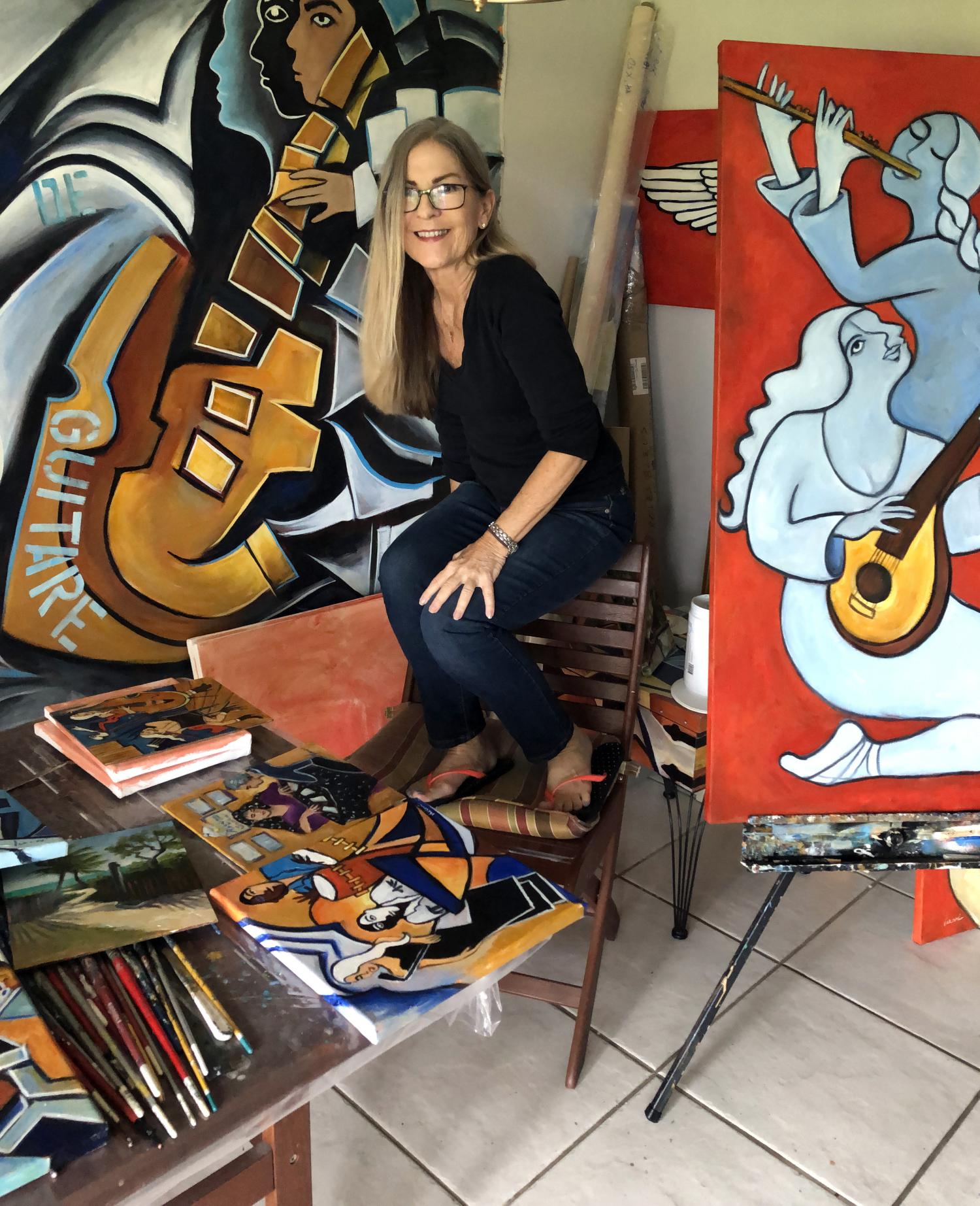 Valerie Vescovi in her Studio