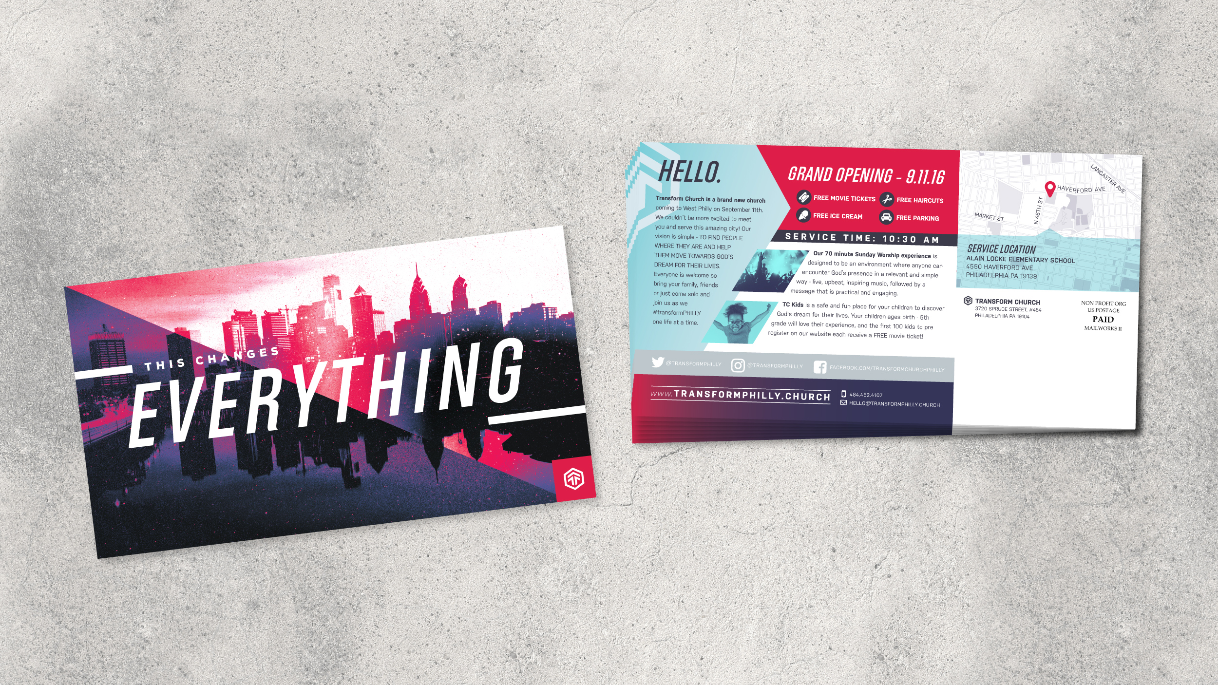 Church Grand Opening Flyer Transform Artspeak Creative