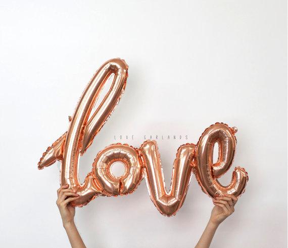 LoveGarland Rose gold love balloon