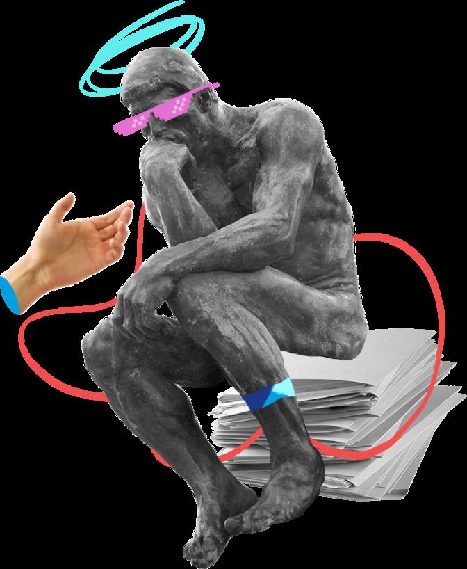 Human brain process illustration