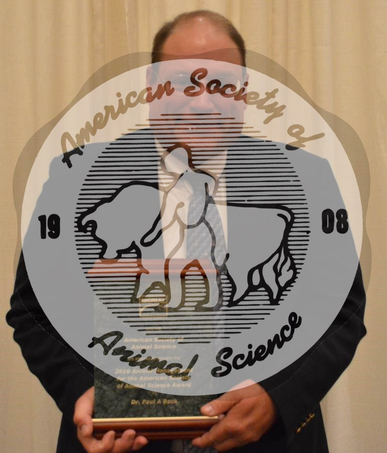 Dr. Paul A. Beck has been named the recipient of the 2016 American Society of Animal Science (ASAS) Animal Management Award by the ASAS during its annual meeting.