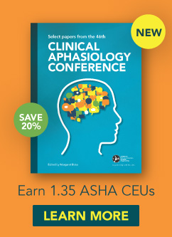 Explore the Latest Clinical Research in Aphasia and Save through June 30