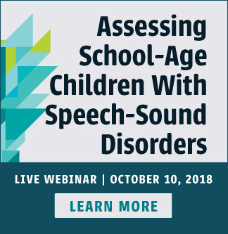 Learn More About Our New Webinar on Speech Sound Disorders
