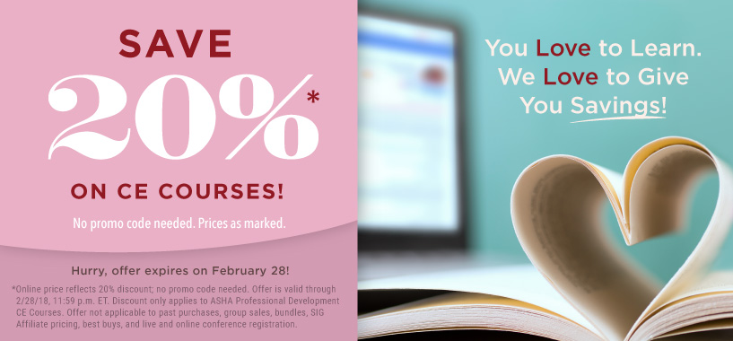 Save 20% on CE Courses