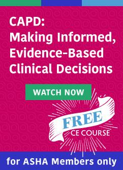 Register for Free ASHA CE Courses