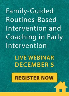 Early Intervention Live Webinar