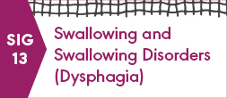 SIG 13, SWALLOWING AND SWALLOWING DISORDERS (DYSPHAGIA)