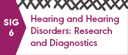 SIG 6, HEARING AND HEARING DISORDERS: RESEARCH AND DIAGNOSTICS