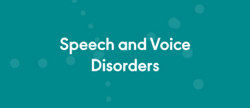 Publications on Speech and Voice Disorders