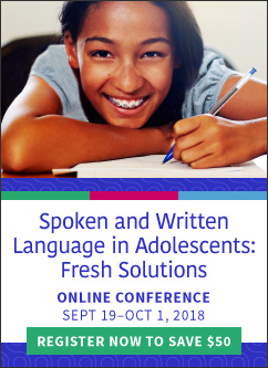 Save on Spoken and Written Language Conference Registration