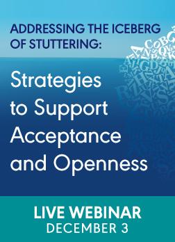 Webinar on Stuttering