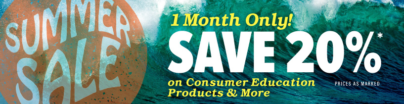 Save 20% in August on Consumer Education Materials