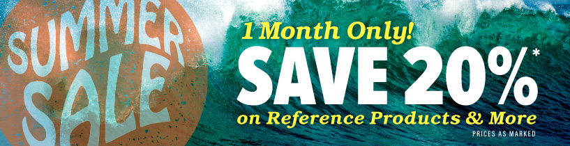 Save 20% in August on Reference Materials
