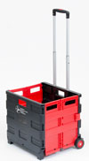 Rolling Crate, Red and Black
