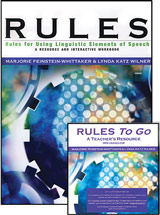 RULES (Rules for Using Linguistic Elements of Speech) A Resource and Interactive Workbook, Teacher Edition and RULES to Go CD Package