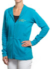 Womens Cotton Full-Zip ASHA Teal Hoodie