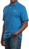 Men's Blue ASHA Polo Shirt