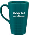 I'm An SLP Large Teal Travel Mug